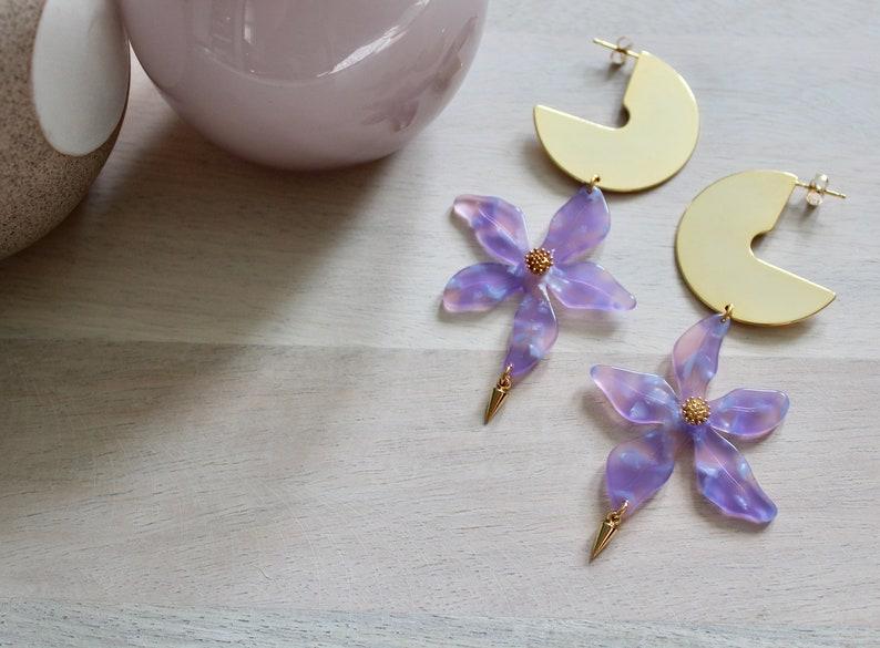 Flower Power Acrylic Flower Earrings image 0