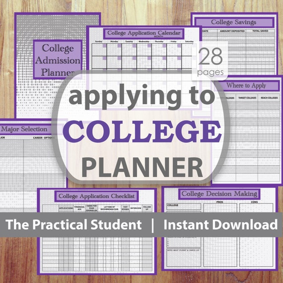 College Application Planner College Planning College Etsy