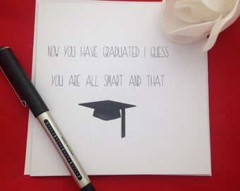 Graduation Card, Handmade Congratulations On Your Graduation Wishes, Congrats On Your Degree, Funny Degree Cards, All Smart Now