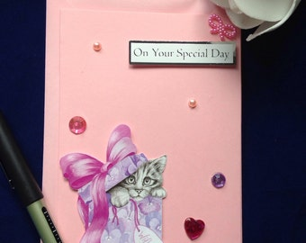 Your Special Day, Special Occassion Card, Cute Fur Baby, Girlie Card, Teenager Cards, Graduation Day, Communion Card, Award Winner Card