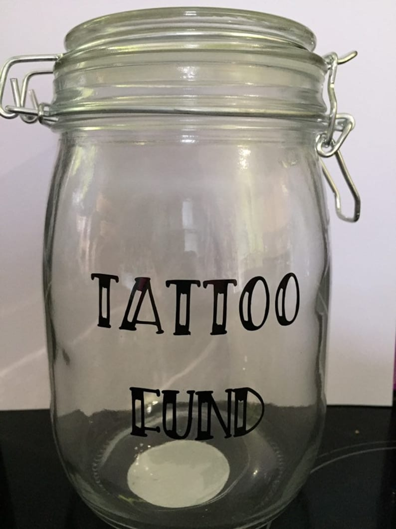 Tattoo Fund Saving Jar Gift For Him Lover Birthday