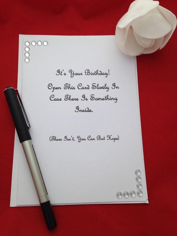 Unisex Birthday Greeting Card Happy Birthday Joke Birthday Etsy