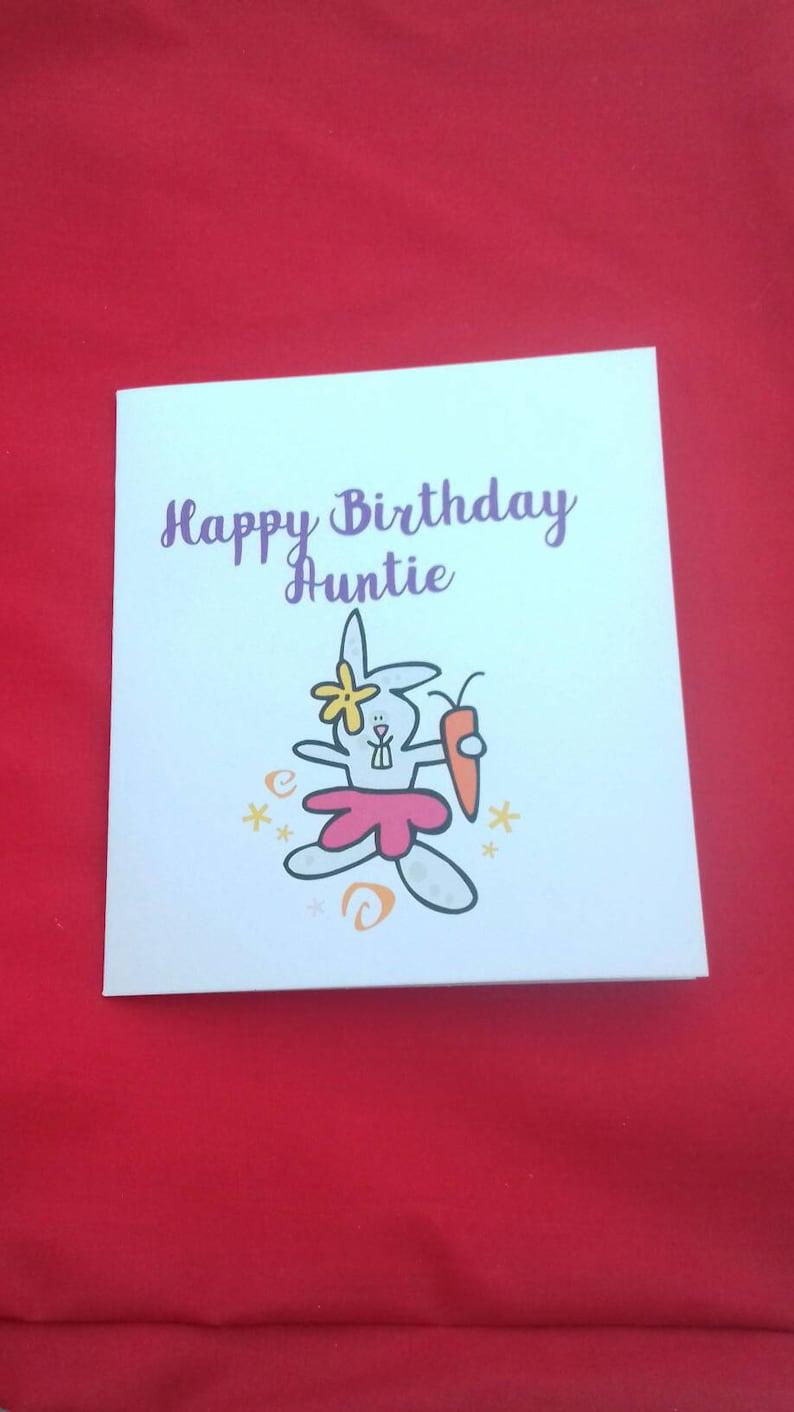 Gelukkige Verjaardag Tante Card Konijn Kaart Kaart Van Neef Etsy