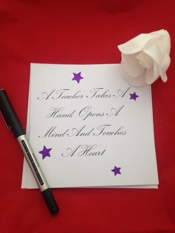 Handmade Teachers Card For End Of Term Sweet Teachers Quotes Etsy