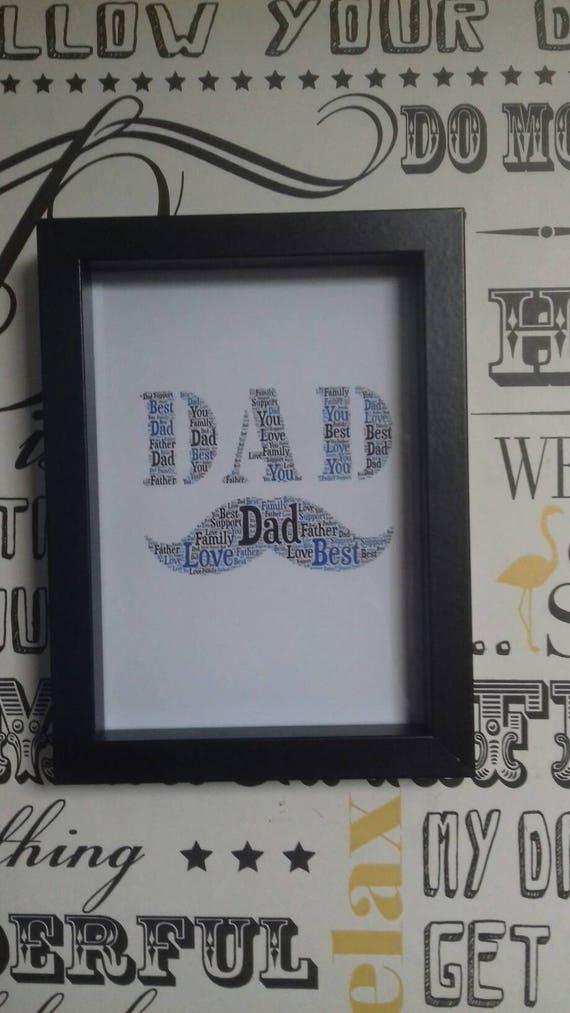 Papa gerahmt Weihnachten Geschenk Vatertag Geschenk für Papa   Etsy