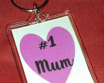Number One Mum Keyring, Number One Nan, Number One Gran Keyring, Small Gift, Mothers Day, Mum Birthday, Nan Gran Birthday Gift,