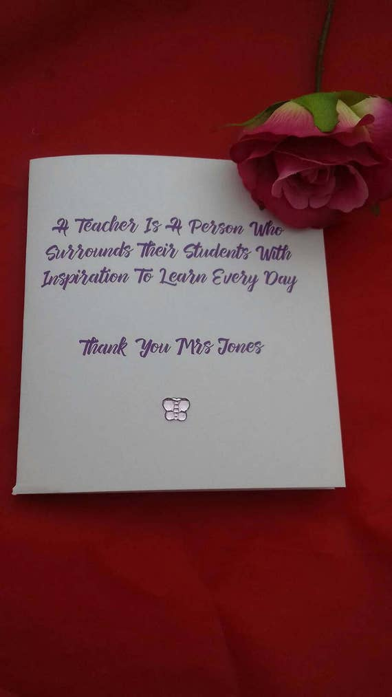 Personalised Thank You Card For Teachers Teaching Cards Etsy