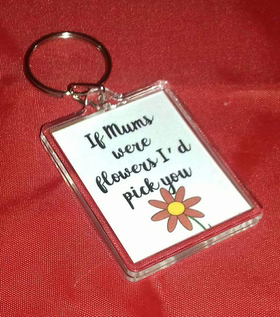 Gift for Mom Flower Keychain Birth Month Birth Month Keychain Floral Bouquet Keychain Birth Flower Keychain Mother/'s Day Gift