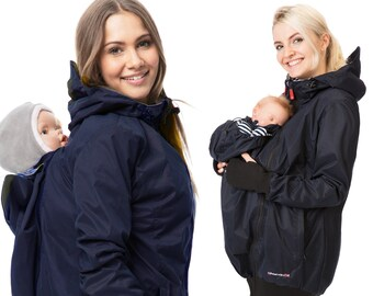 1382c224fb33b GoFuture® 5in1 Babycarrying SOMMERAmMEER Babywearing jacket Front and back  plus Maternity pregnancy multifunction 100% water proof