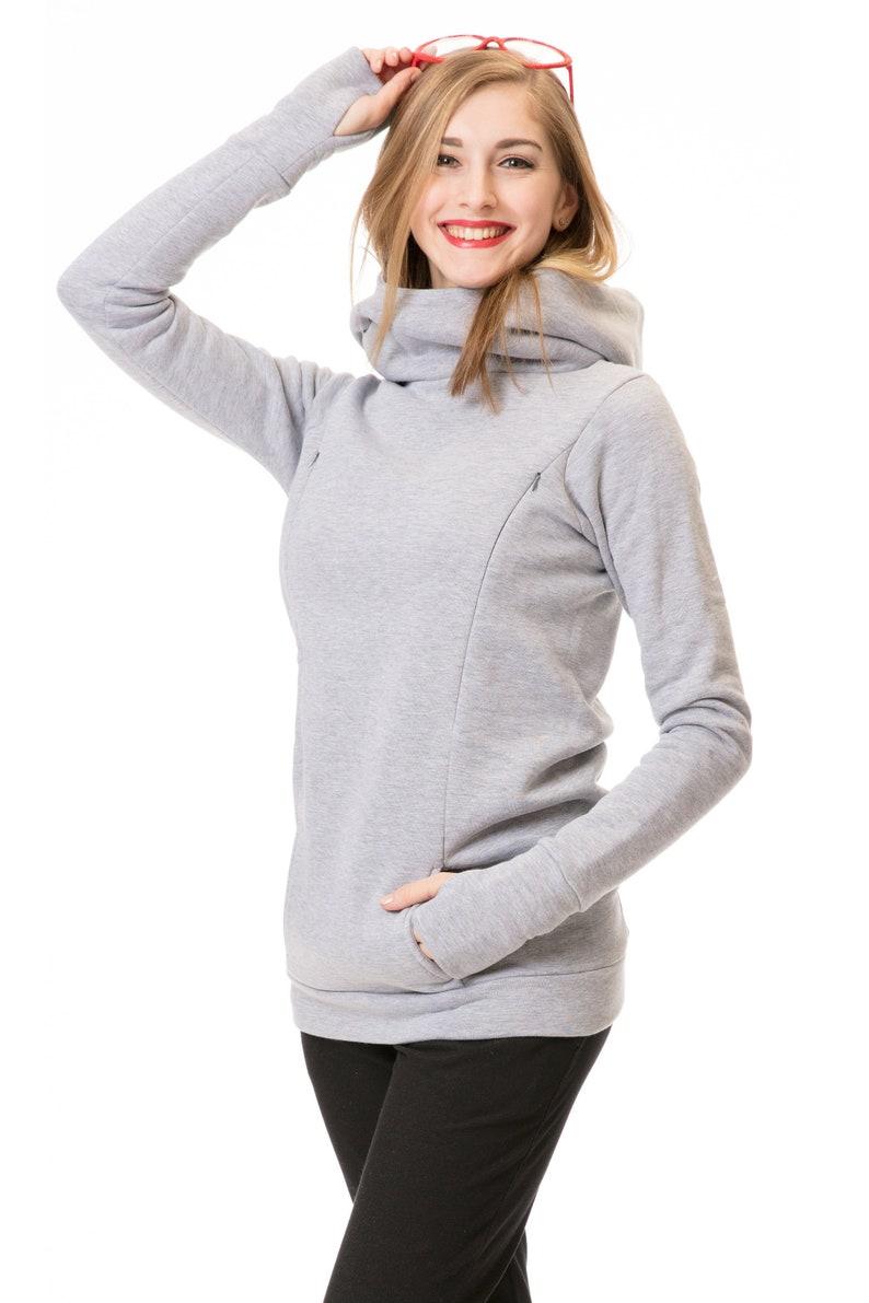 GoFuture\u00ae 3in1 hoodie Maternity Nursing hoodie Breastfeeding jumper Normal leisure use TIAMO in highest quality Handmade GoFutureWithLove