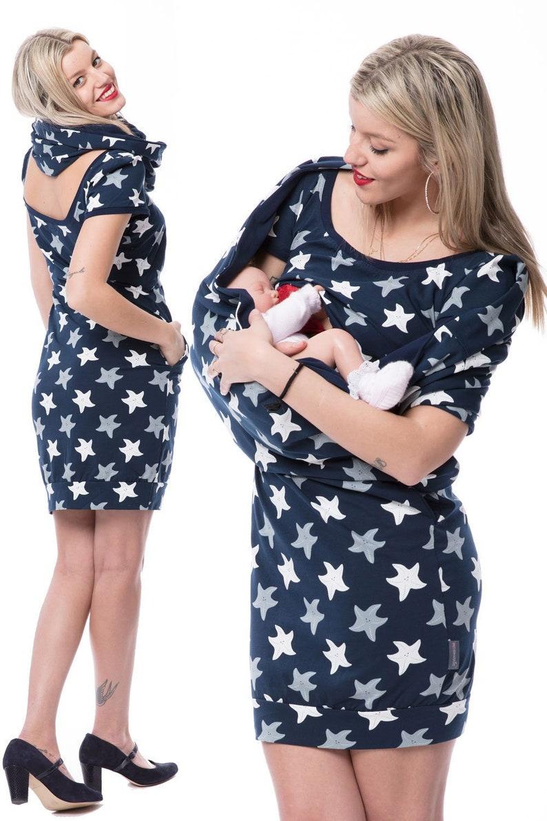 GoFuture\u00ae Maternity dress Nursing dress Nursing scarf 5in1 SET GL\u00dcCKSSTERN Breastfeeding cover up Highest quality Handmade GoFutureWithLove