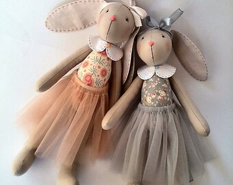 Personalized Baby gifts girls Kids toys Stuffed toy Gift sisters  Rag doll Bunny plush Bunny Rabbit Sisters girlfriends Gift for girls