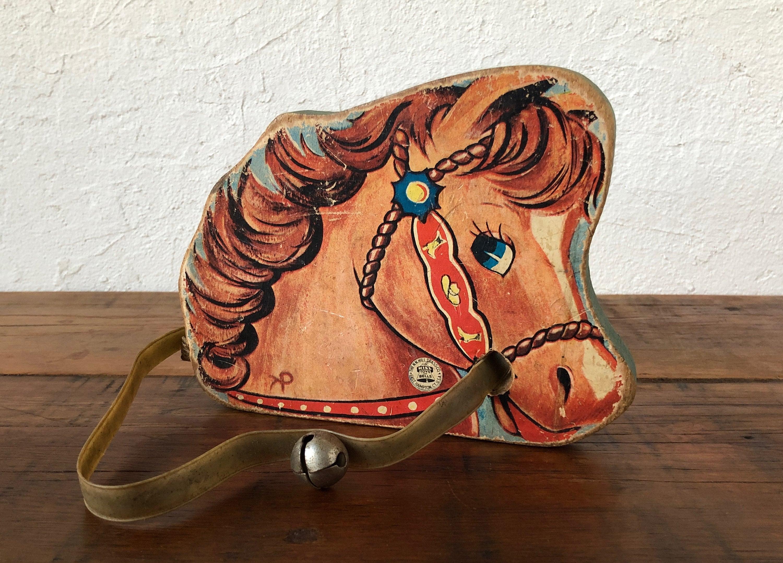 A20 Maison de Poupées Petite métal jouet cheval à bascule