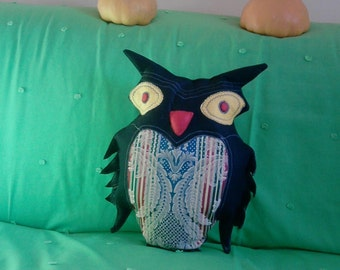 Dark Owl pillow gift idea