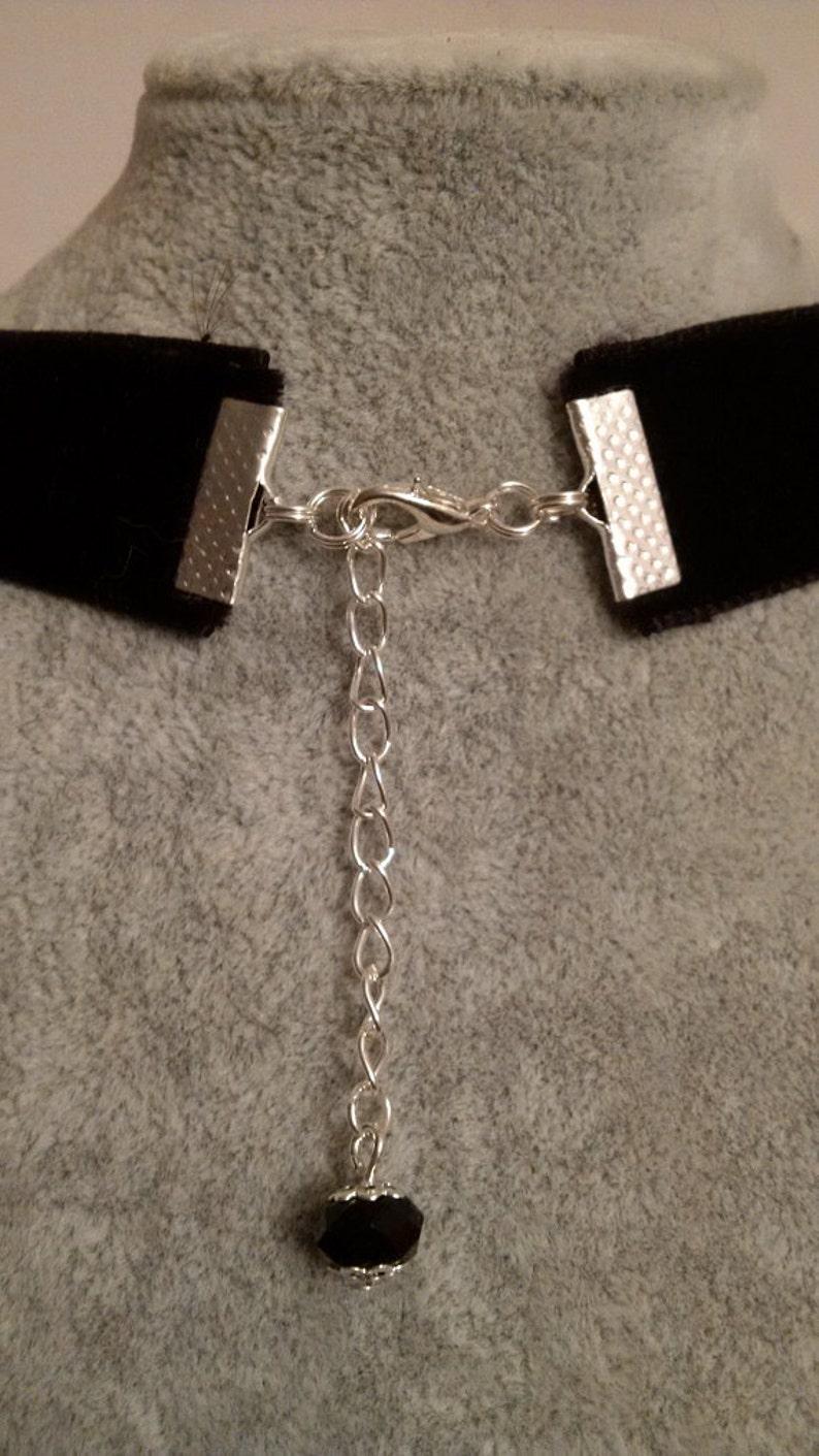 Cross Necklace - Black  Red Choker Velvet Choker Gothic Cross Choker Necklace