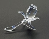 Crystal Clear Glass Rose. A unique Peter Lambshead design to add to the magic of your special occassion. Handcrafted from hot boro glass.