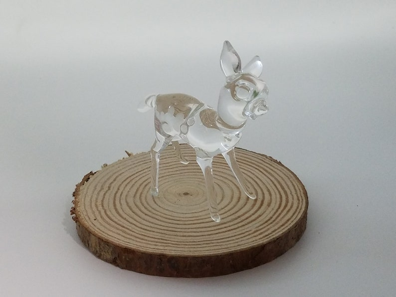 A Peter Lambshead Creation. Beautifully Sculptured Glass Fawn Often Seen In This Field Where The Picture Was Taken In Maine Woodland Fawn