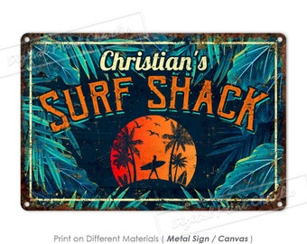 Quality Aluminum Custom Sign Personalized Family Owned Seafood Restaurant Sign Custom Metal Beach House Decor Surf Side Bar /& Grill Sign