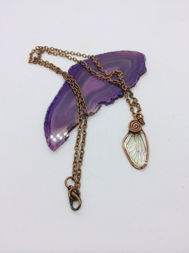 Cicada Wing Necklace Cicada wings Resin Necklaces necklaces insect wings