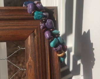 Howlite and Turquoise Bracelet Pair