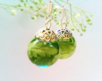 Sterling Silver 925 Woodland fern Resin Earrings, Botanical earrings, Nature inspired jewelry, Real Plant, Natural jewelry