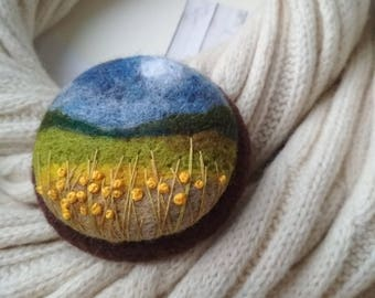 Womens jewelry gift Unusual gift ideas for her Boho chic charm brooch Needle felted brooch for scarf Nature gift for friend  Jewelry gifts