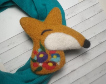 Orange jewelry gift for best friend Cute accessory animal charms Fox teen gifts animal jewelry Miniature fox Woodland set felted animal