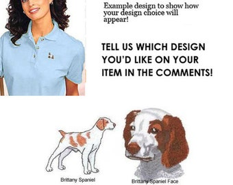 Brittany Spaniel Women's Polo - Personalized - Embroidered