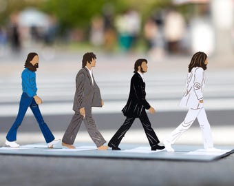 The Beatles Abbey Road Pop Up Card, The Beatles Abbey Road 3D Card, The Beatles Gift, Beatles Pop Up 3D Lovepop Card, The Beatles Abbey Road