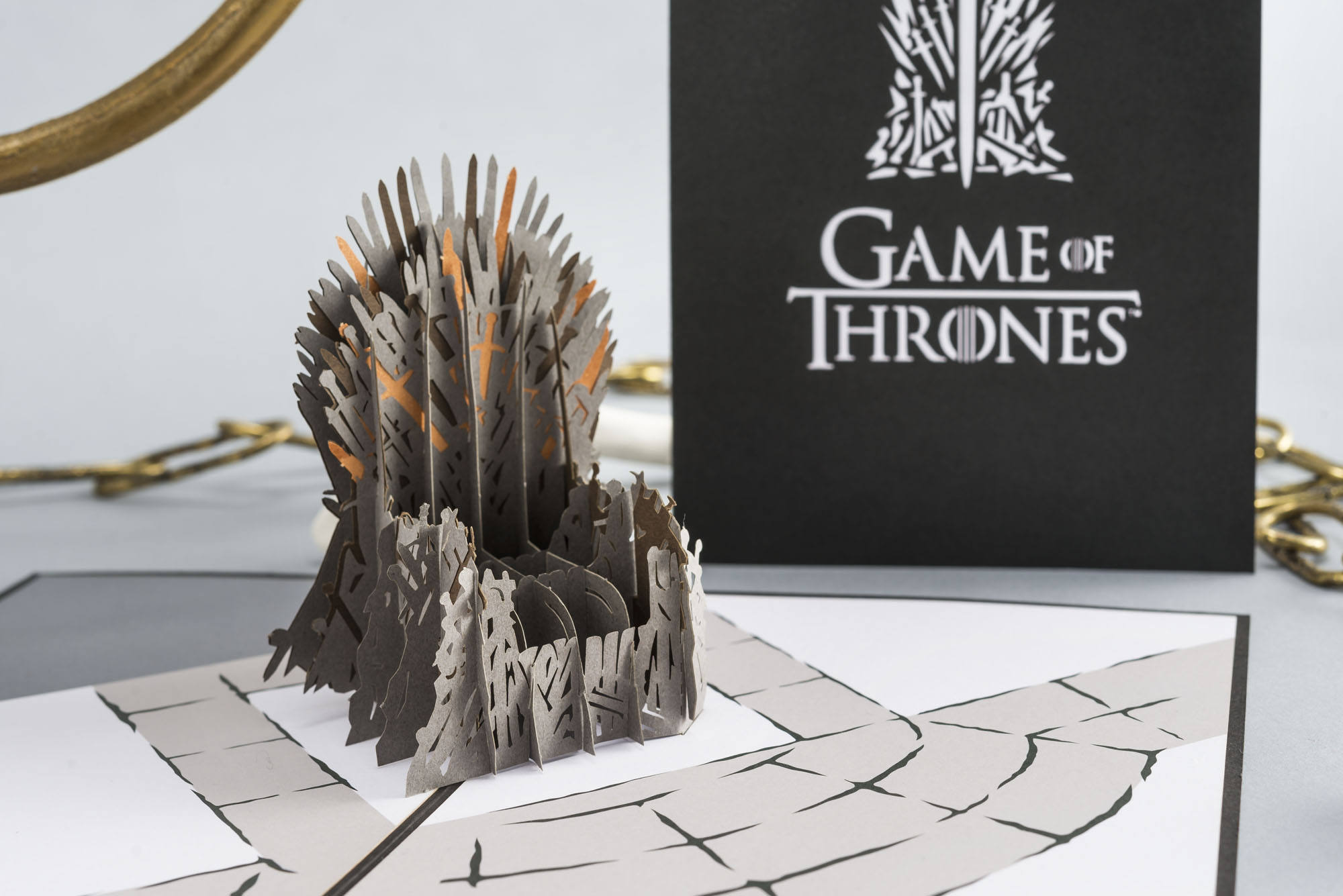 The Iron Throne Game Of Thrones Pop Up Card Game Of Thrones