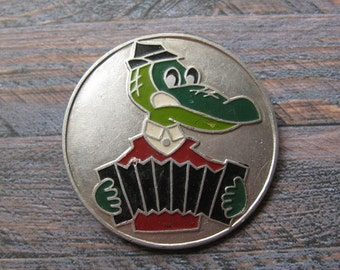 Crocodile Gena, Soviet Animation Pin, Cartoon Badge, Badge for Collectors, Collectible Badge, Metal Badge, Soviet Vintage Pin