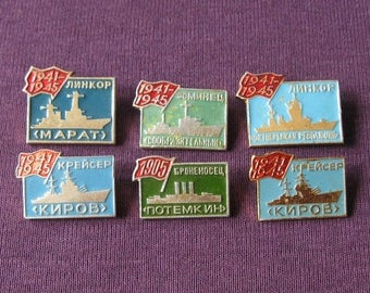 Vintage Nautical Pins, Navy and Aqua, Antique Vessels, Nautical Badges, Ships and Boats Pins, Antique Boats