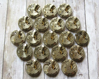 20 mm Watch Movements, Small Watch Movements, Steampunk Supplies, Watch Movements For Parts, Antique Watch Parts, Old Watch Supplies