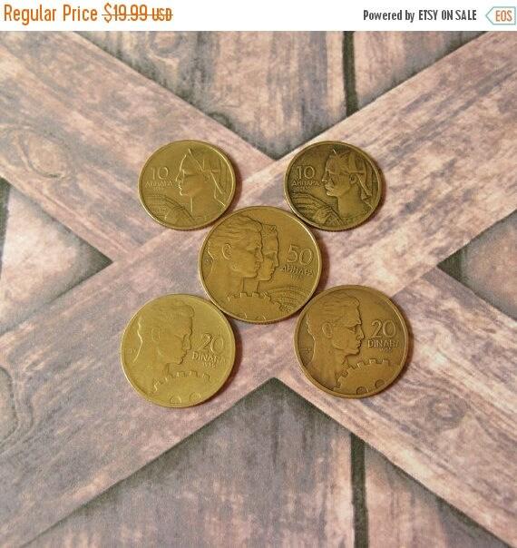 1955 Jugoslawischer Münzen Hergestellt In Jugoslawien Münzen Etsy