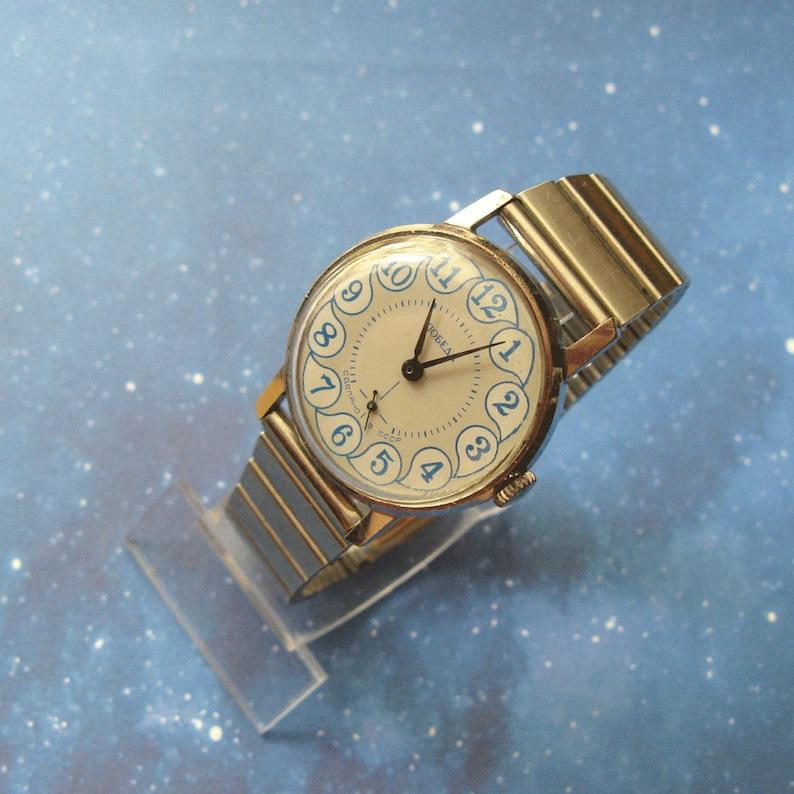 Pobeda Watch, Vintage USSR Watch, Mechanical Watch, Mens Wrist Watch,  Services Watch, Working Condition Watch