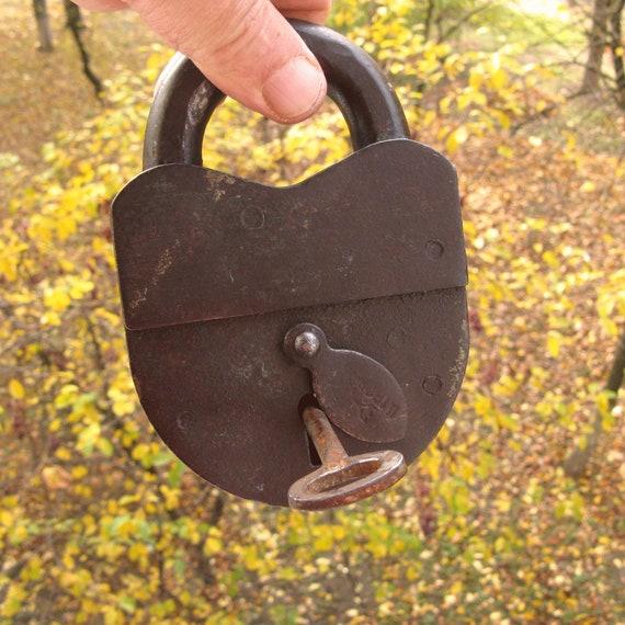 Antique Padlock, Wedding Lock, Love Lock and Key,
