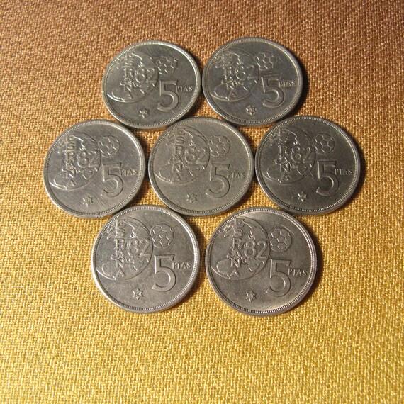 1982 Münzen Aus Spanien Weltmünzen 1982 Fifa Welt Tasse Etsy