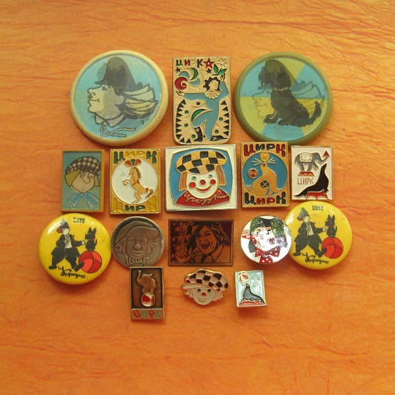 Vintage Circus Pins, Circus Artists, Circus Animal