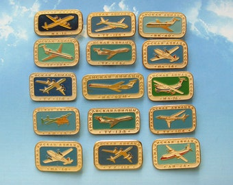Vintage Aviation Pins, Airplanes and Helicopters, Transportation Party, Going Away Party, Love to Fly, Stewardess Charm