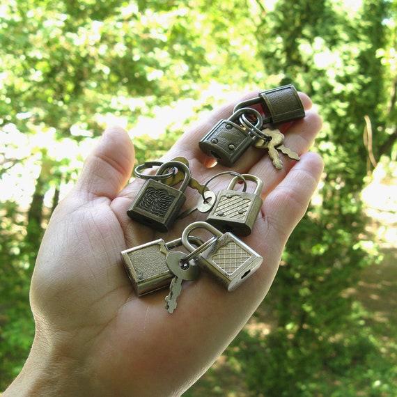6 Small Antique Padlocks, Wedding Lock, Love Lock
