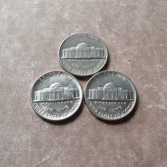 Fünf Cent Münzen Usa Münzen Münzen Aus Usa Schmuck Münzen Etsy