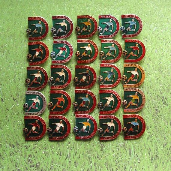 Soviet Football Pins, Football Clubs Badges, Footb