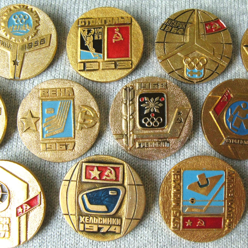 Vintage Hockey Hockey Charm Hockey Championship Pins Hockey Party Hockey Player Gifts Hockey Collectible Hockey Art
