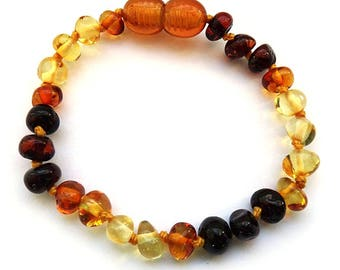 Genuine Baltic Amber bracelets 7-8in 19-22cm selection of colors