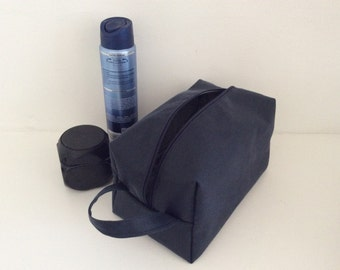 Waxed cotton wash bag toiletry bag travel bag doppbag mens  10f8e477cf2c7