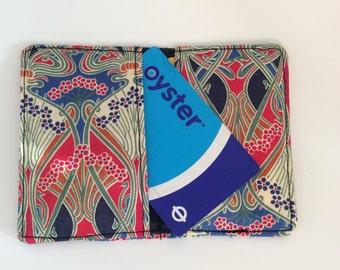 Card holder, Oyster card holder, travel card, credit card holder, Liberty of London