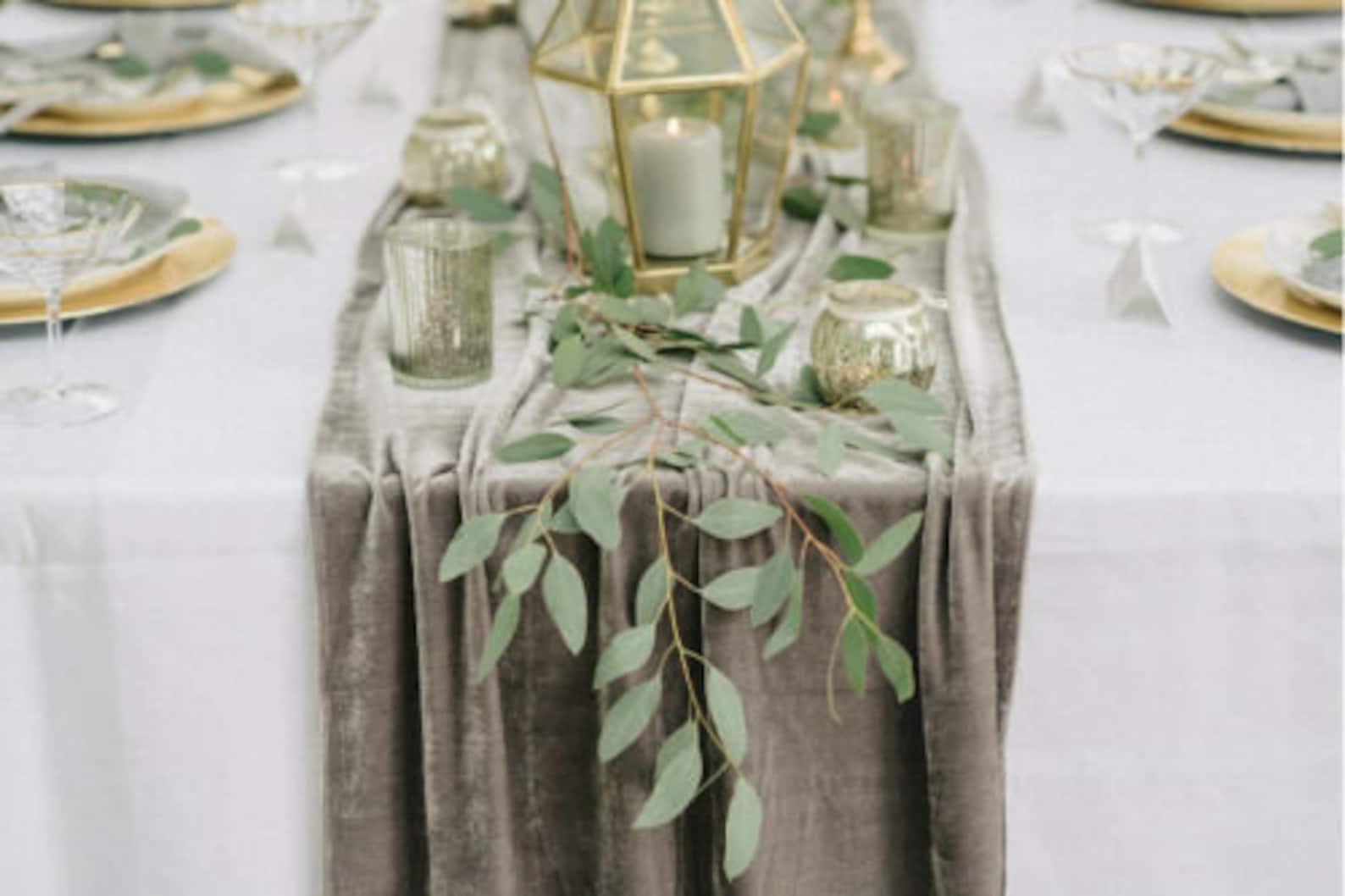 Tischläufer Samt Hochzeit