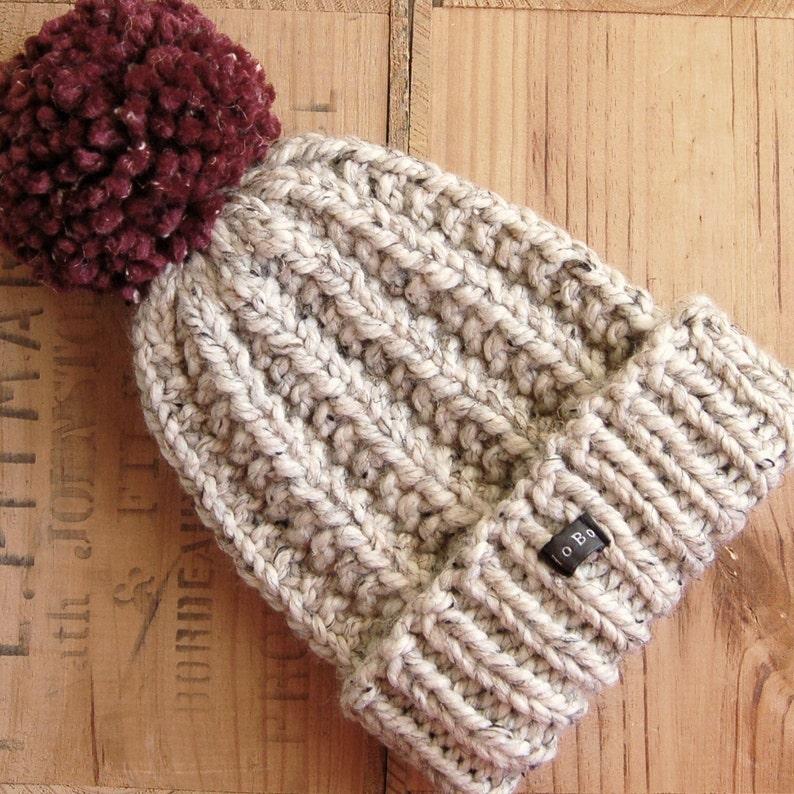 a4f7b913af2f6 Mens handmade HoBo Lofty bobble hat. Thick chunky hand knit