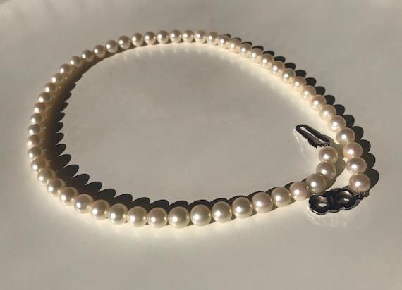 Japanese Akoya pearl vintage necklace