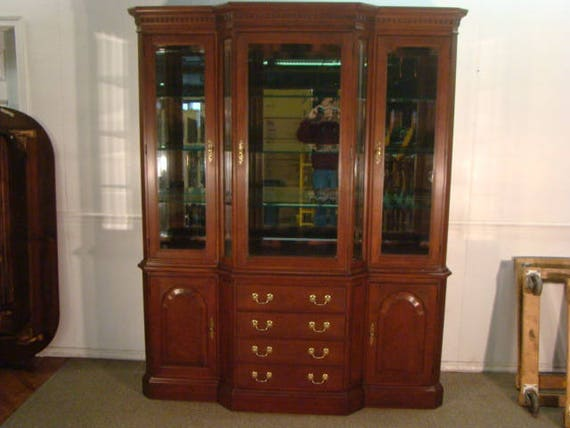 Harden Solid Cherry Breakfront China Cabinet